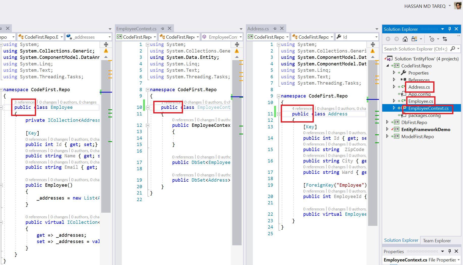 Entity Framework Code Fisrt Approach - Creating edmx from DbContext Step 17